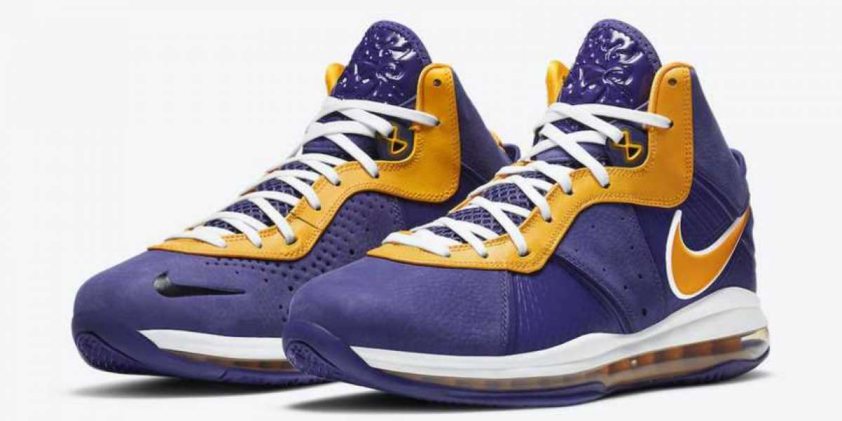 """DC8380-500 Nike LeBron 8 QS """"Lakers"""" Court Purple-University Gold-University Gold Released This Month"""