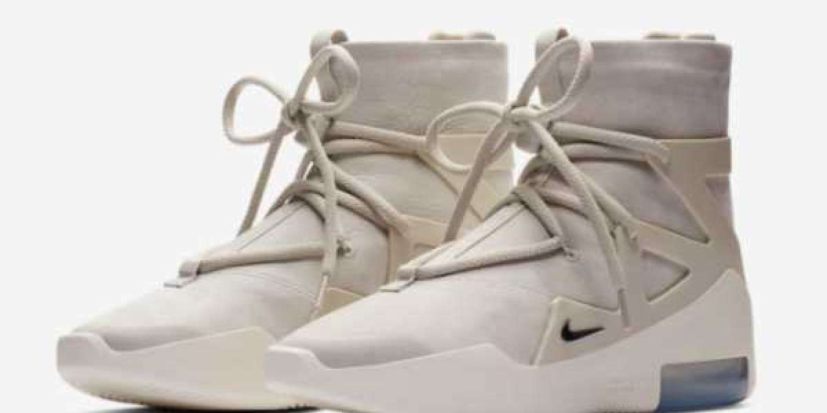 "Where To Buy Nike Air Fear of God 1 ""Light Bone"" Style Shoes AR4237-002"