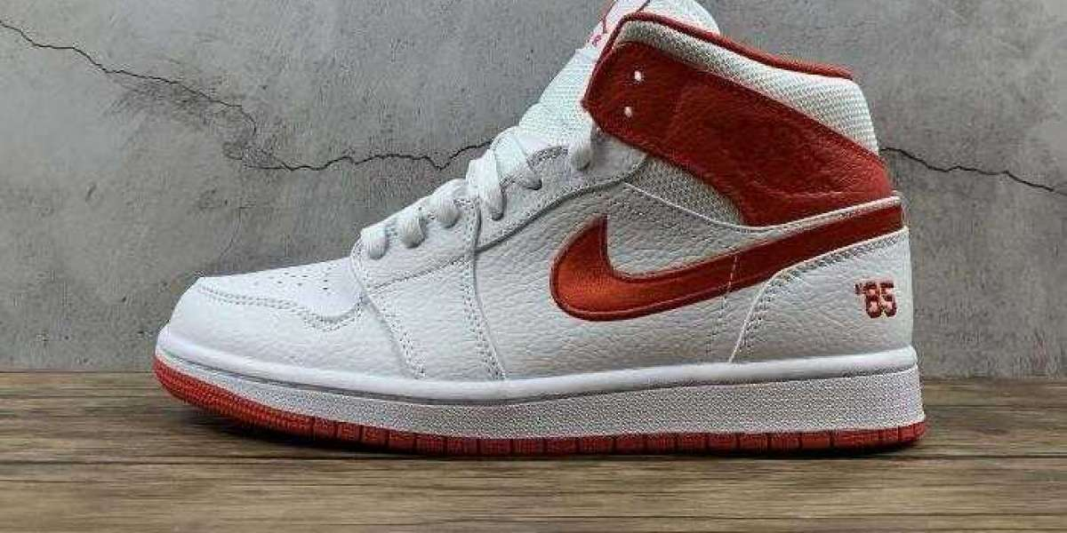 New Drop Air Jordan 1 Mid 85 DH0200-100 White Red Blue for Sale