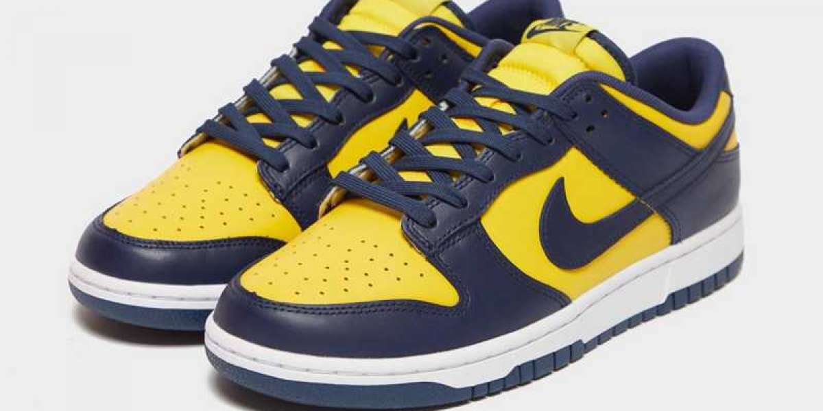 """Come and own these classic Nike Dunk Low """"Michigan"""" DD1391-700 shoes!"""
