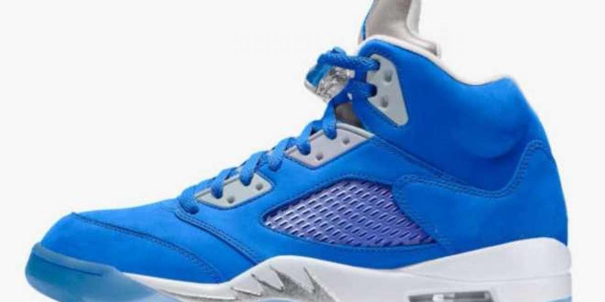 """2021 Latest Air Jordan 5 WMNS """"Bluebird"""" Basketball Shoes DD9336-400"""