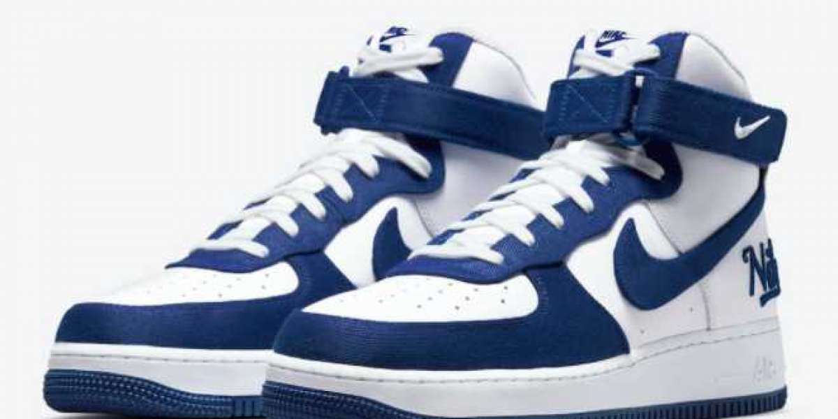 """2021 Latest Nike Air Force 1 High EMB """"Dodgers"""" DC8168-100"""