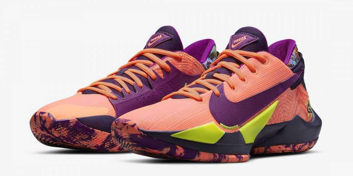"Hot Sale Nike Zoom Freak 2 ""Bright Mango"" Basketball Shoes CW3162-800"