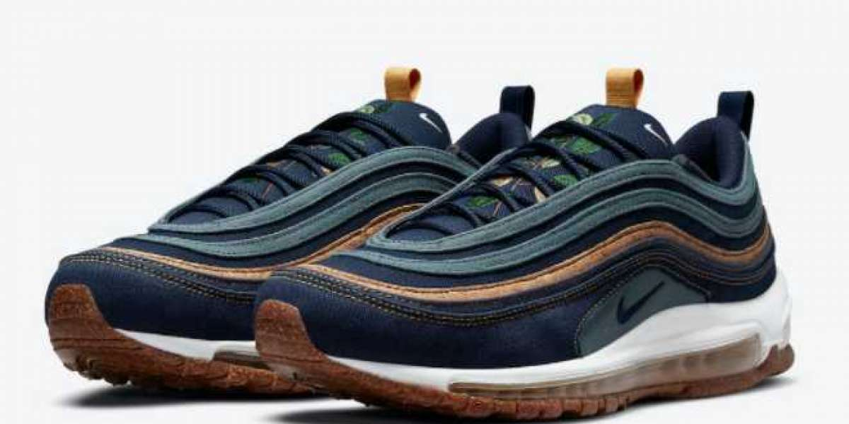 """DC3986-300 Nike Air Max 97 """"Cork""""will be added to the plant-based package on April 29"""