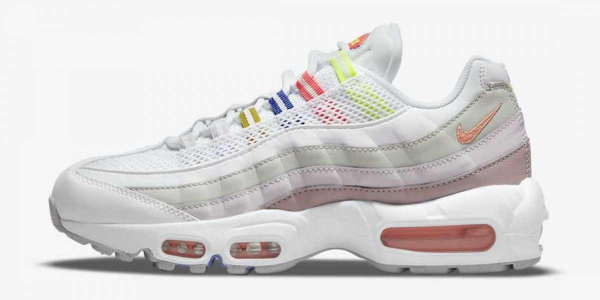 "Latest 2021 Nike Air Max 95 ""White Multi"" Lifestyle Shoes"