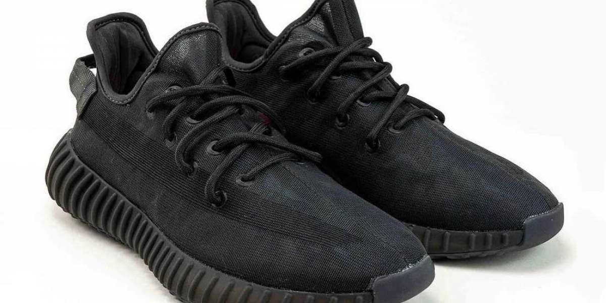"""New Release adidas Yeezy Boost 350 V2 """"Mono Black"""" Running Shoes"""