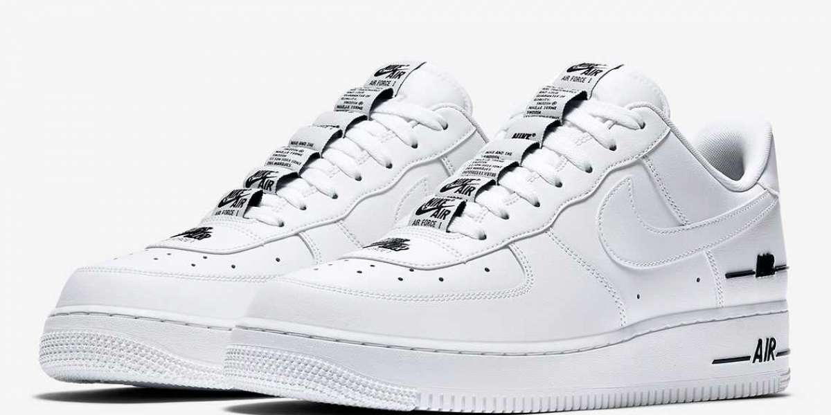 Best Sale Nike Air Force 1 Low Double Air Low White Black CJ1379-100