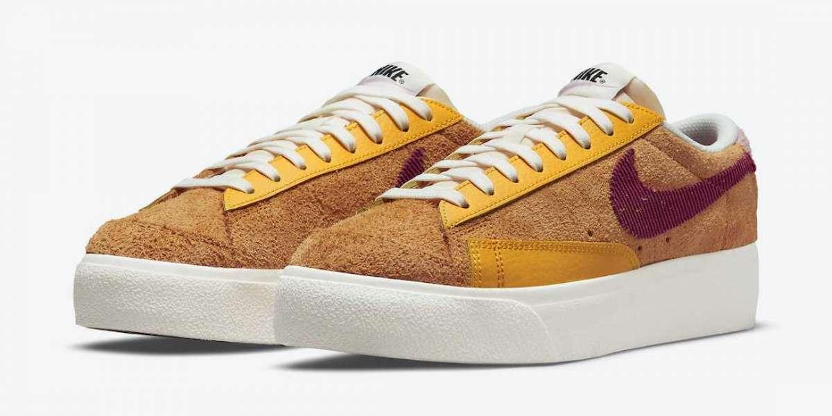 "Brand New Nike Blazer Low Platform ""Sunset"" Sneakers DO6721-700"
